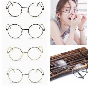 823d69b9e65 Women Men Large Oversized Metal Frame Clear Lens Round Circle Eye Glasses  Nerd E