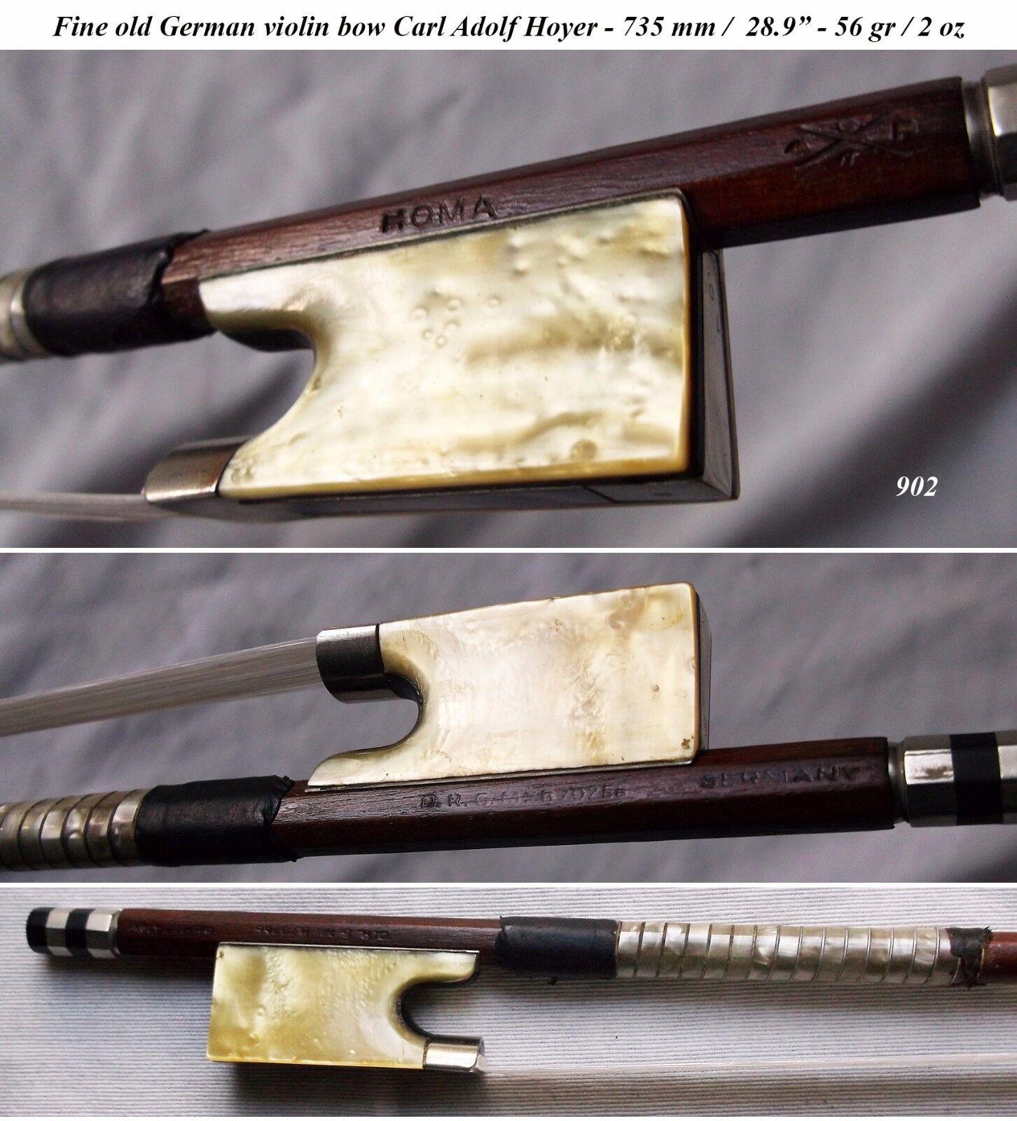 FINE OLD GERMAN MASTER VIOLIN BOW C. A. HOYER Seltene Antiquität