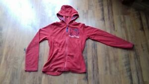 Hello-Kitty-girls-red-toweling-zipped-hoody-age-11-to-12