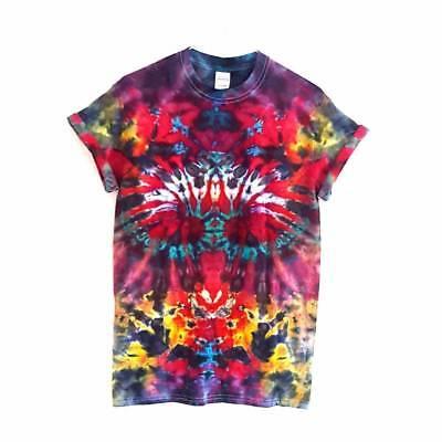 2019 Neuer Stil Retro T-shirt Tie Dye Unisex Festival 90's Grunge Hipster Summer Hippie Top Tee