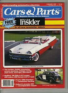 Cars Parts Magazine Feburary 1989 Issue 1956 Mercury Montclair On The Cover Ebay