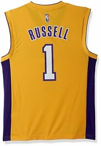 cab781ac adidas Men's D'Angelo Russell Los Angeles Lakers Swingman Jersey XL ...