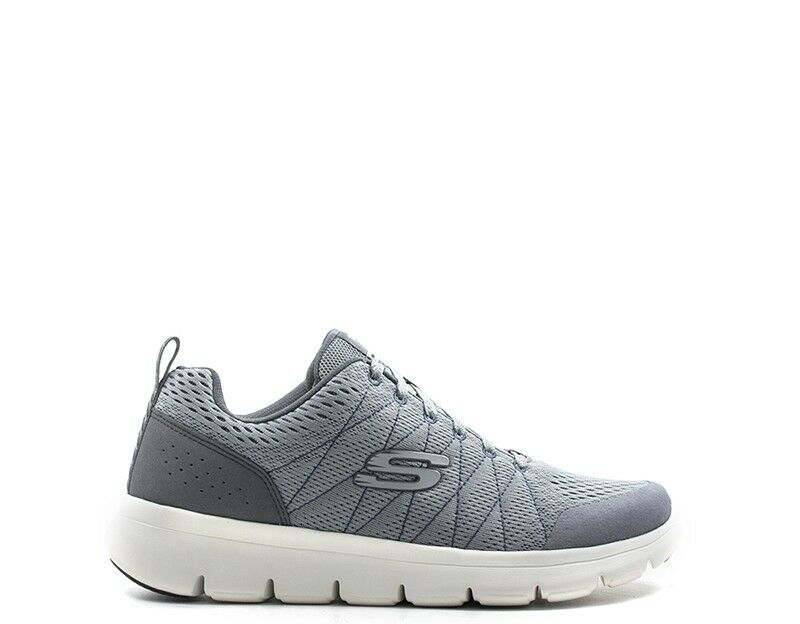 shoes SKECHERS SPORT men Sneakers  grey PU,Tessuto 52836-GRY