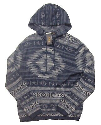 Polo Ralph Lauren Performance Southwestern Print Hoodie Men/'s M L 2XL Gray NWT