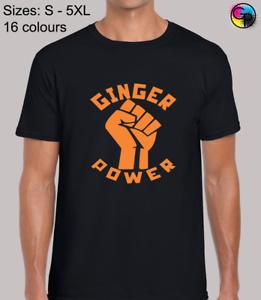 Ginger Power Blague Nouveauté Humour Taille Standard Fit T-shirt homme tshirt tee-shirt Pour Hommes