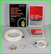 * Comcast Xfinity High-Speed Cable Modem Internet Self-Install Kit PC MAC NEW *