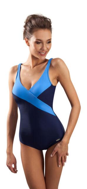 e4c24e4342 Womens One Piece Swim Costume Deep V Neckline and Low Cut Scooped ...