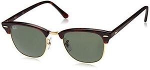 5269da45fe5 Ray-Ban RB3016 Clubmaster Unisex Sunglasses with Black Frame and ...