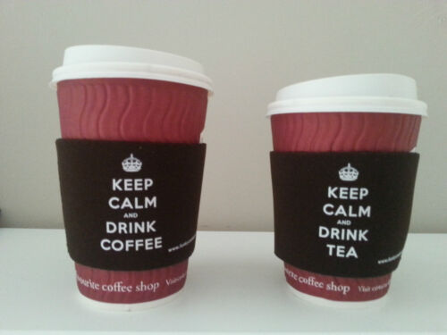 Cup Holder Keep Calm Tea and Coffee Sleeve Koozie