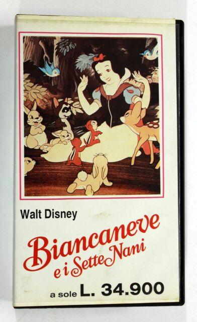 BIANCANEVE E I SETTE NANI Walt Disney VHS Electa David Hand Dwarfs -0FA