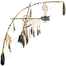 Medicine Wheel Bow Crossed Arrows Dream Catcher Set Southwest Decor