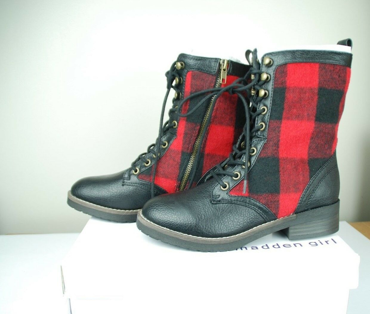 New in Box Madden Girl Womens Miles Red PL Calf Boots-17793