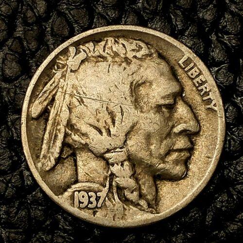 Condition ~ $20 ORDERS SHIP FREE! VG 1937-P Buffalo Nickel ~ Very Good