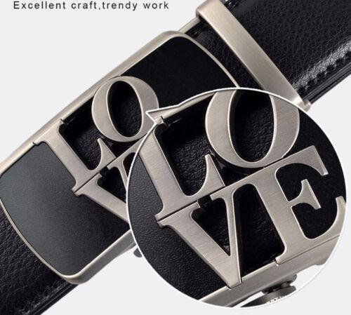 Royaume-Uni Pour Femme Homme Ceintures Love Automatique Ceinture en cuir pour femmes à cliquet Femmes