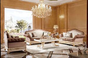Classiques-3-Places-XXL-Grand-Canape-Baroque-Rokoko-Canapes-246cm-Blanc