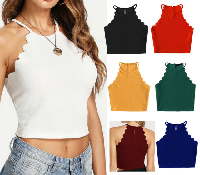 Fashion Women's Summer Solid Tank Sexy Vest Blouse Sleeveless Crop Tops HDC18