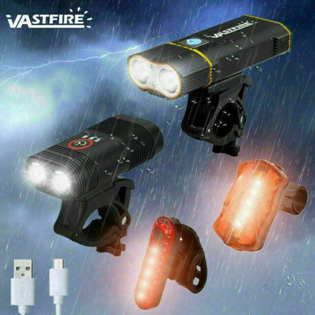 Super Hell Fahrradlicht 2 Cree L2 LEDs Fahrradlampe USB LED Fahrradbeleuchtung