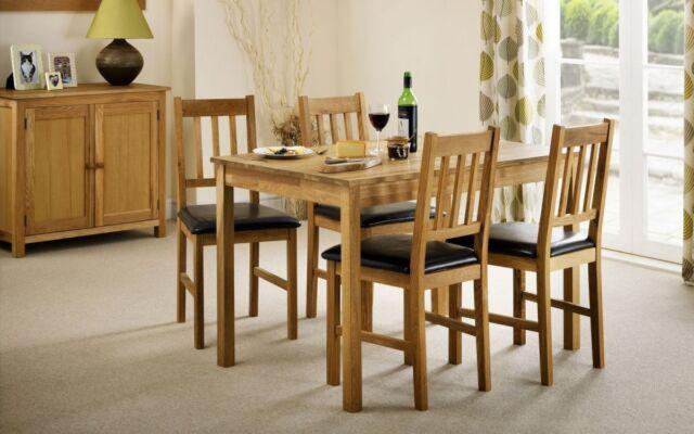 Julian Bowen Coxmoor Oak Rectangular Dining Range - Solid Oak - Free Delivery