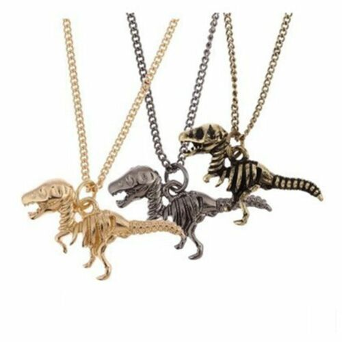 Fashion Jewelry Chaîne Longue Pendentif Dinosaure ou Tyrannosaurus Collier Grand Cadeau
