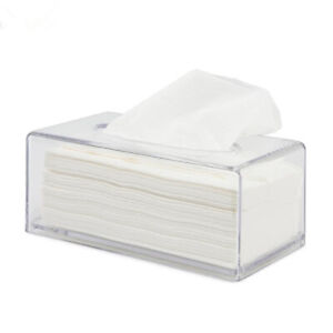 Acrylic-Clear-Tissue-Box-Cover-Rectangular-Napkin-Car-Office-Paper-Holder-Case