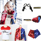 Fancy Dress Cosplay Accessories Coat For Harley Quinn Anime Halloween Wig Hair