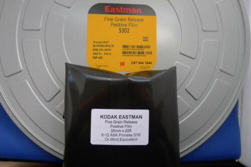 35mm X 100ft BULK FILM B/&W KODAK SLOW ULTRA FINE GRAIN dev D76 TO MAKE TRANS//POS