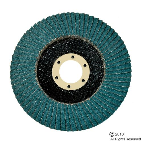 "LOT OF 20  4 1//2/"" X 7//8/"" FLAP 180 GRIT WHEEL SANDING DISC PREMIUM ZIRCONIA"