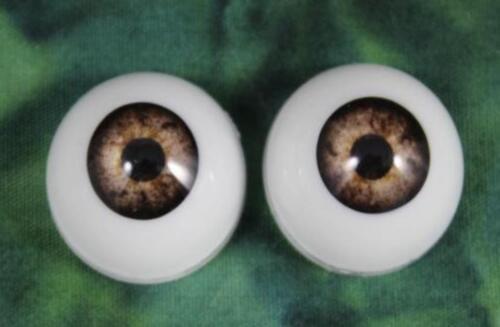 ONE PAIR 22MM Pabol Dark Grey Acrylic Half ROund Reborn DOll Eyes FAST SHIPPING