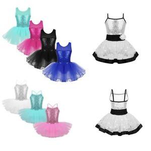 Kid-Girl-Ballet-Dress-Tutu-Skirt-Gym-Leotard-Lyrical-Dancewear-Ballerina-Costume
