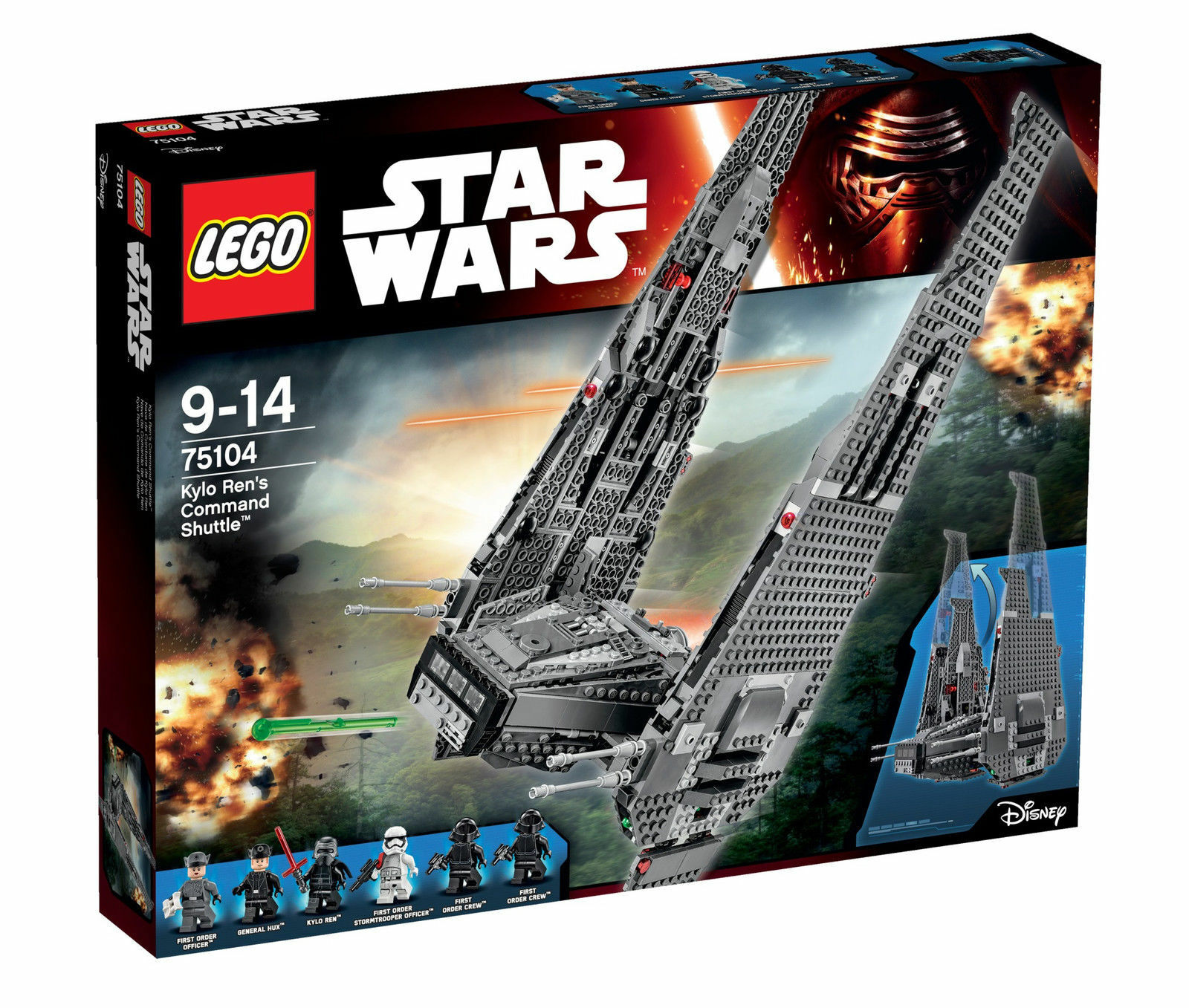 NIB LEGO Star Wars Kylo Ren's Command Shuttle 75104 NEW SEALED