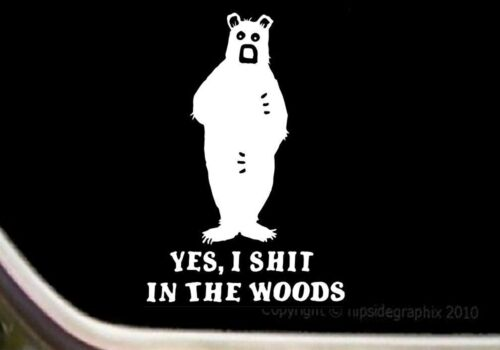"/""Big Grizzly Bear/"" Hunting Window Decal Sticker BH-2"