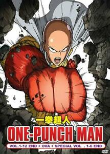 DVD Anime One Punch Man Complete Series 1-12 End OVA 1-6 Special English Dub