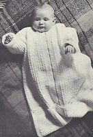 Vintage Knitting Pattern To Make Baby Infant Sleeping Bag Zipper Blanket Sack