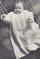 Vintage Knitting Pattern To Make Baby Infant Sleeping Bag Zipper Blanket Sack