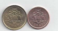 2 NICE COINS from BARBADOS - 1 & 5 CENT (BOTH DATING 2012)