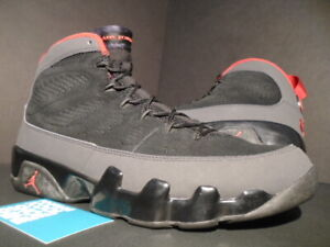 ef55d3c04ea9 2010 NIKE AIR JORDAN IX 9 RETRO BLACK RED CHARCOAL GREY BIN 23 ...