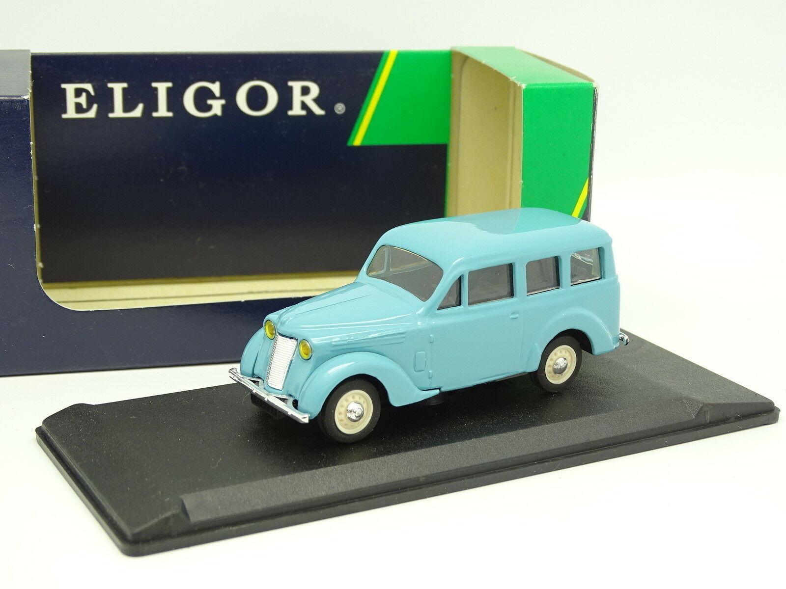 Eligor 1 43 - Renault Juvaquatre bluee