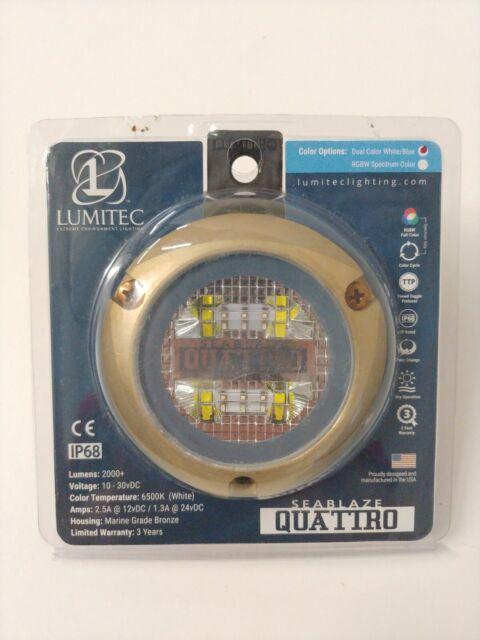 White//Blue LUMITEC LIGHTING SeaBlaze Quattro LED Underwater Light