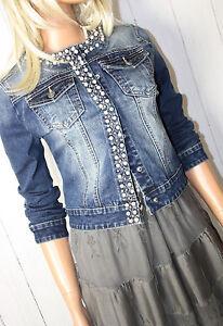 jacke jeansjacke gr l 40 neu denim used look blue. Black Bedroom Furniture Sets. Home Design Ideas