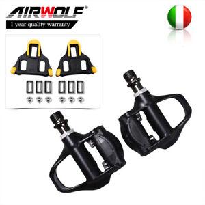Pedali-Airwolf-10-9-2mm-per-bici-da-corsa-con-tacchetti-galleggianti-Shiman-o-IT