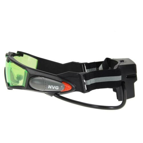 LED Night Vision Goggles Eye Shield Green Lens Protector View Glasses Adjustable