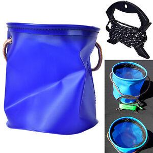 1X-Angeln-Falten-Wasserdichte-Eimer-Outdoor-Camping-Faltbare-Werkzeuge-Fa-Pw