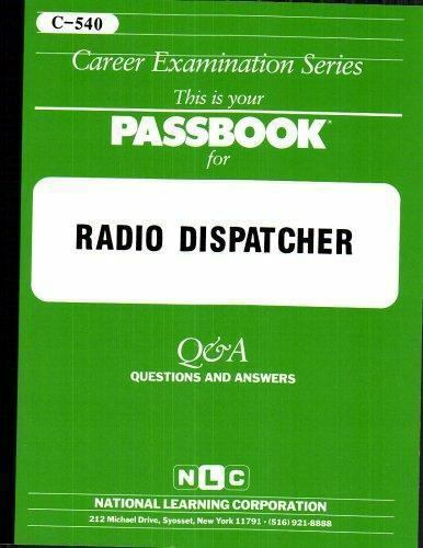 National Learning Corporation-Radio Dispatcher BOOK NEW