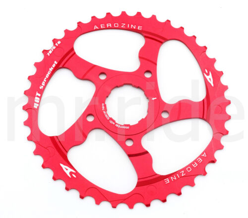 Aerozine CNC 40T Sprocket Cassettes +16T fit Shimano 10 speed Red