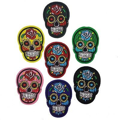 Iron-On Patch Mexican Sugar Skull Sew-On Badge