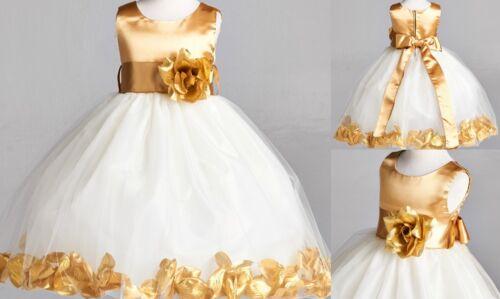 Fall Christmas Holiday Wedding Bridesmaid Pageant Recital Birthday Girl Dress#22