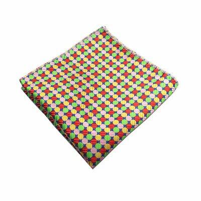 Accurato Nuovo 100% Multi Colore A Pois Fazzoletto Tasca Square Fazzoletto Da Matrimonio-mostra Il Titolo Originale
