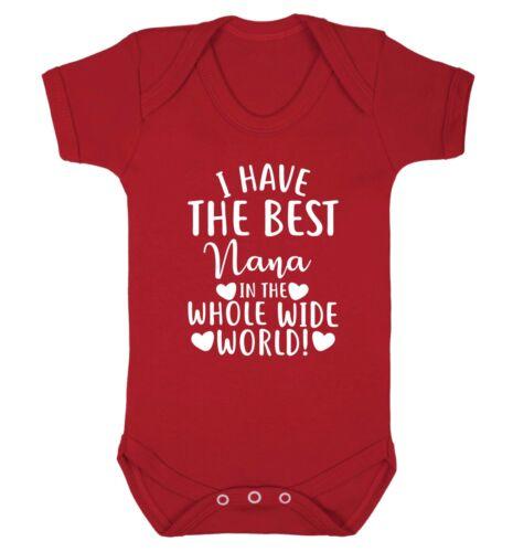 Best Nana in the whole world BABY VEST Grandson Grand Daughter Grandma Gran 4611