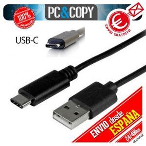 Cable-micro-USB-tipo-C-3-1-datos-y-carga-rapida-Negro-para-MacBook-Apple