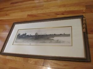 HENRY-ROSENBERG-1858-1947-IL-NY-TRANQUIL-RURAL-LANDSCAPE-ETCHING-W-REMARQUE